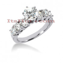 14K Gold Designer Diamond Engagement Ring 1.70ct