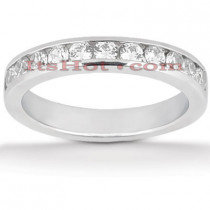 Thin 14K Gold Designer Diamond Engagement Ring Band 0.55ct