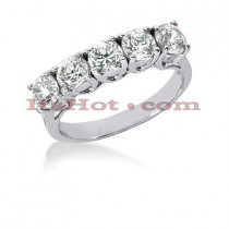 Thin 14K Gold Designer Diamond Engagement Ring Band 1.50ct