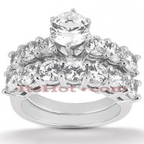 14K Gold Designer Diamond Engagement Ring Set 0.95ct