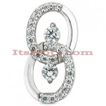 14K Gold Designer Diamond Pendant 0.90ct