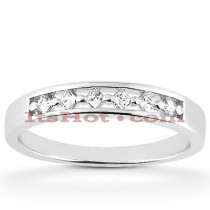 14K Gold Designer Diamond Wedding Band 0.18ct