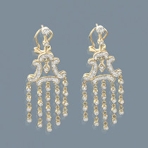 14K Gold Diamond Chandelier Earrings 0.66ct