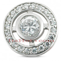 14K Gold Diamond Circle Pendant 0.50ct