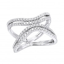 14K Gold Diamond Cocktail Ring for Women 0.8ct by Luxurman Fashion
