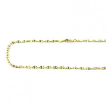 14K Gold Diamond Cut Anchor Chain 18in long, 3mm wide