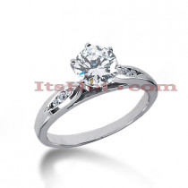 14K Gold Diamond Designer Engagement Ring 0.58ct