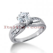 14K Gold Diamond Designer Engagement Ring 0.70ct