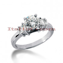 14K Gold Diamond Designer Engagement Ring 0.86ct