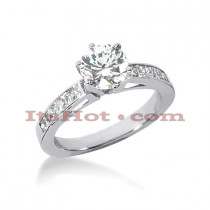 14K Gold Diamond Designer Engagement Ring 0.90ct