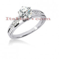14K Gold Diamond Designer Engagement Ring 0.92ct