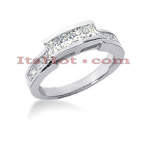 Thin 14K Gold Diamond Designer Engagement Ring Band 0.96ct