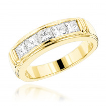 14K Gold Diamond Designer Engagement Ring Band 1.50ct