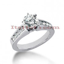 14K Gold Diamond Engagement Ring 0.90ct