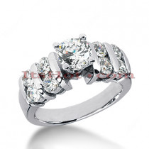 14K Gold Diamond Engagement Ring 1.42ct