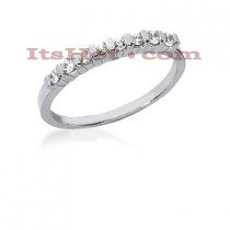 Thin 14K Gold Diamond Engagement Ring Band 0.16ct