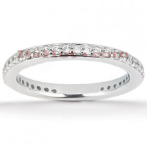 Thin 14K Gold Diamond Engagement Ring Band 0.37ct