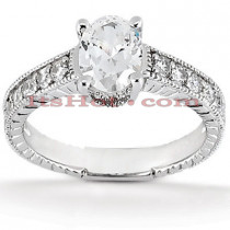 14K Gold Diamond Engagement Ring Mounting 0.15ct