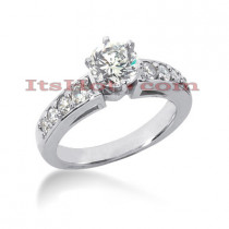 14K Gold Diamond Engagement Ring Mounting 0.43ct