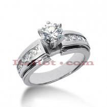 14K Gold Diamond Engagement Ring Mounting 0.70ct