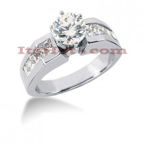 14K Gold Diamond Engagement Ring Mounting 0.88ct