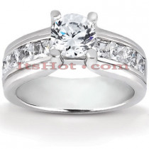 14K Gold Diamond Engagement Ring Mounting 0.98ct