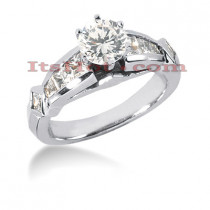 14K Gold Diamond Engagement Ring Mounting 1.36ct