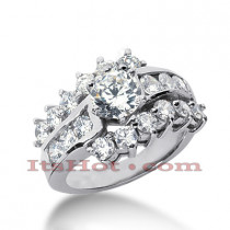 14K Gold Diamond Engagement Ring Mounting 1.68ct