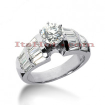 14K Gold Diamond Engagement Ring Mounting 1.96ct