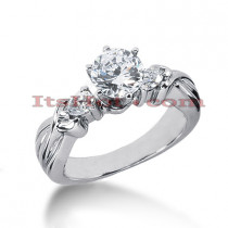 14K Gold Diamond Engagement Ring Setting 0.28ct