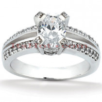 14K Gold Diamond Engagement Ring Setting 0.42ct