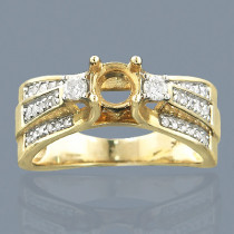 14K Gold Diamond Engagement Ring Setting 0.65ct