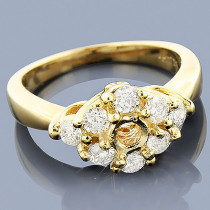 14K Gold Diamond Engagement Ring Setting 0.78ct