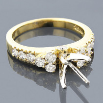 14K Gold Diamond Engagement Ring Setting 0.93ct