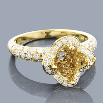 14K Gold Diamond Engagement Ring Setting 1.38ct