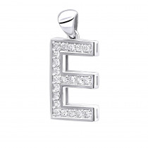 14K Gold Diamond Initial Letter Pendant 0.33ct