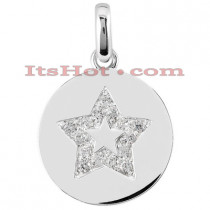 14K Gold Diamond Star Pendant 0.45ct