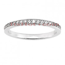 Stackable Rings Thin Diamond Wedding Band for Women in 14k Gold 0.21ct