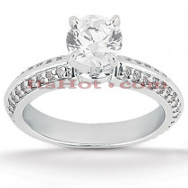 14K Gold Diamond Unique Engagement Ring 0.88ct