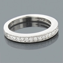 Ultra Thin 14K Gold Diamond Wedding Band 0.39ct