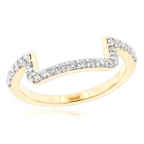 14K Gold Engagement Ring Matching Diamond Wedding Band for Women 0.45ct