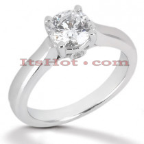 14K Gold Engagement Ring Mounting 0.03ct