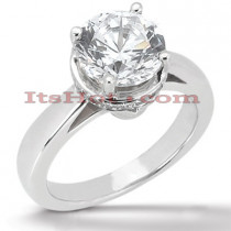 14K Gold Engagement Ring Mounting 0.07ct