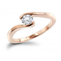 14K Gold Engagement Ring Mounting