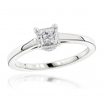 14K Gold Four-Prong Solitaire Engagement Ring 0.24ct