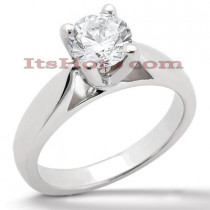 14K Gold Four-Prong Solitaire Engagement Ring 1ct