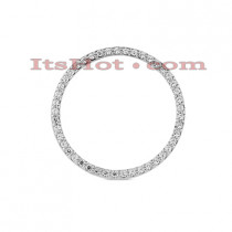 14K Gold Ladies Circle Diamond Pendant 0.34ct