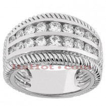 14K Gold Ladies Diamond Ring 0.74ct