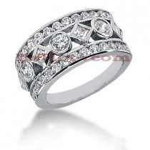 14K Gold Ladies Diamond Ring 1.69ct