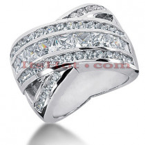 14K Gold Ladies Diamond Ring 3.43ct